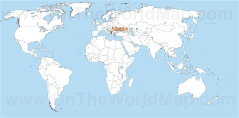 where is albania on the map albania maps maps of albania ontheworldmap