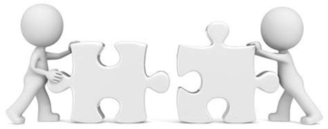Putting It Together Black small puzzle pieces stock photos images