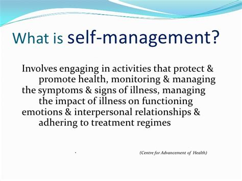 what is selves the flinders model of chronic condition self management