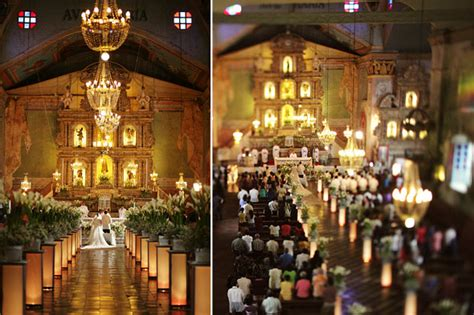 Wedding Aisle Organ by The Historical Charm Of Baclayon Church Weddings In