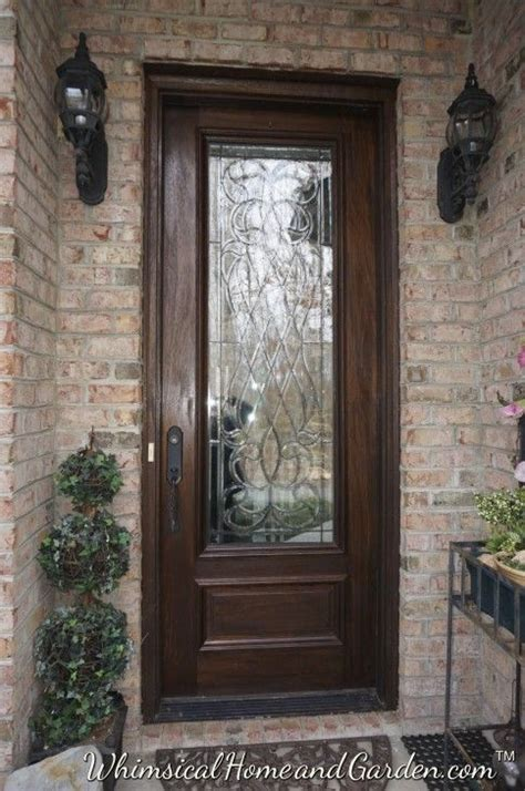 Exterior Wood Front Doors With Glass 25 Best Ideas About Glass Front Door On Pinterest Front Doors Front Door Rugs And Exterior