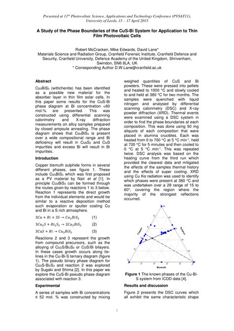 a study of the phase boundaries of the pdf