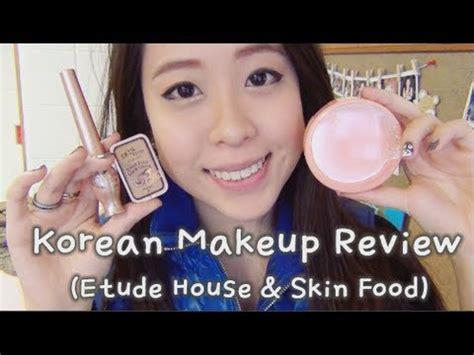 tutorial makeup korea etude house korean makeup review etude house skin food youtube
