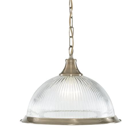 Pendant Ceiling Light Searchlight 9369 American Diner 1 Light Antique Brass Ceiling Pendant