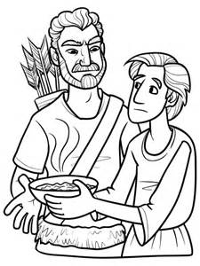 jacob deceives isaac coloring page coloring pages