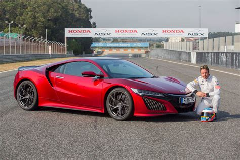 nissan acura fernando alonso drives the 2017 honda nsx digs the brakes