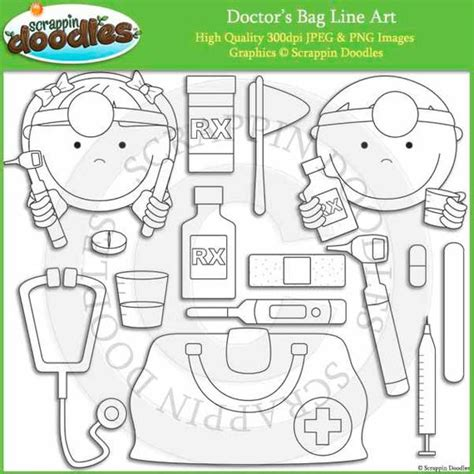 doctor bag craft template doctor s bag line