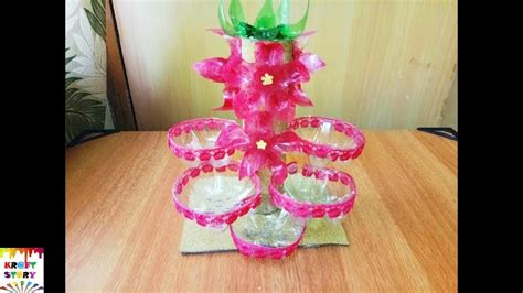 Handmade Handicrafts From Waste Materials - plastic bottle craft plastic bottle organiser best out