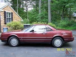 Cadillac Allante 1987 1987 Cadillac Allante Base Convertible 2 Door 4 1l