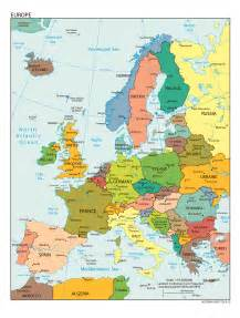 capital cities map of europe
