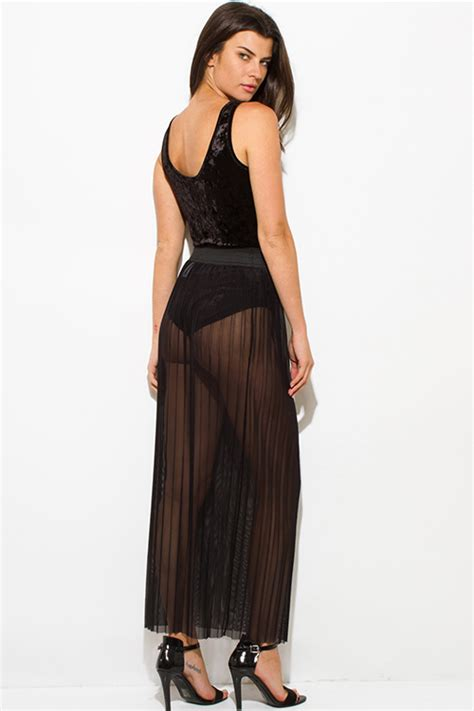 shop wholesale womens black sheer mesh tulle banded