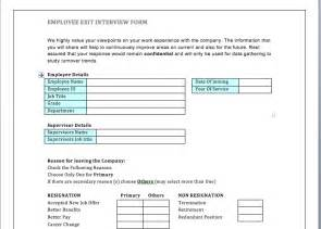 employee exit template word best photos of employee exit form employee