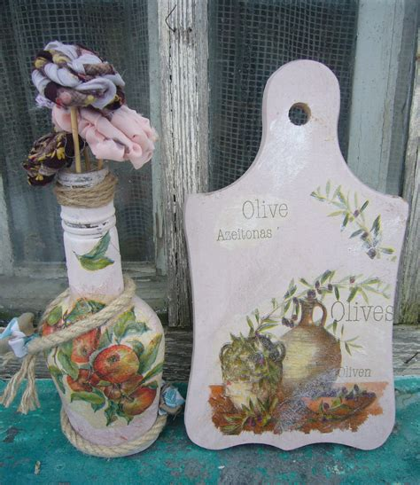 Decoupage Ideas For Wood - kitchen crafts glass and wood decoupage ideas decoupage
