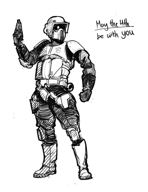 scout trooper coloring pages scout trooper is best trooper by hazzard65 on deviantart