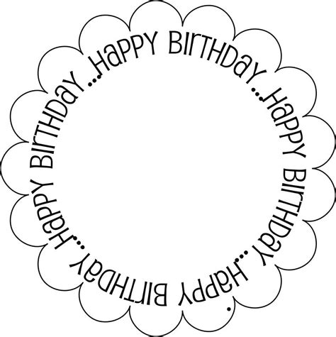 birthday card template free printable 7 best images of black and white printable birthday cards