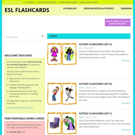 printable flashcards esl download free esl flashcards and printables pearltrees