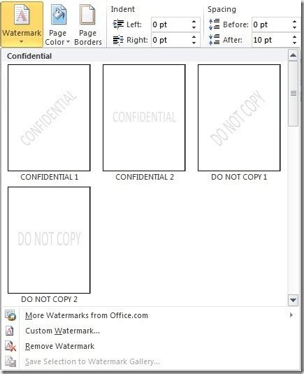 web layout microsoft word 2010 add a watermark to your word documents the productivity hub