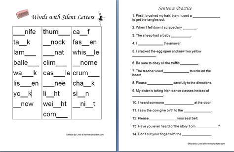 5 Letter Words Last Letter L spelling silent letters homeschool den