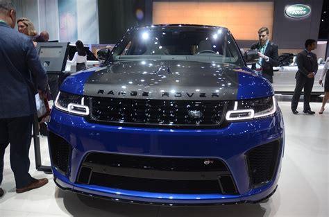 range rover svr engine carbon hood on range rover sport svr is popping in los
