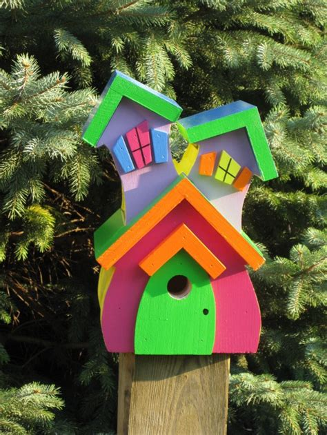 Handmade Wooden Bird Houses - 15 decorative and handmade wooden bird houses style