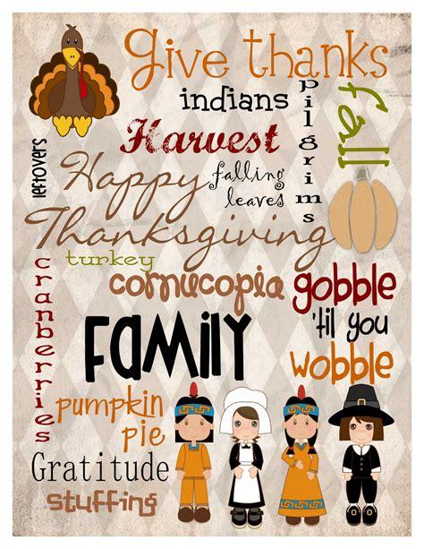 printable art for thanksgiving mule n nag crafts freebie thanksgiving subway art