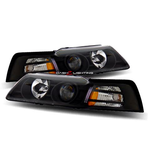 headlights for 2000 mustang 99 04 ford mustang projector headlights black