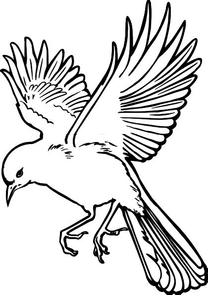 Bird Wings Outline by Landing Bird Outline Clip At Clker Vector Clip Royalty Free Domain