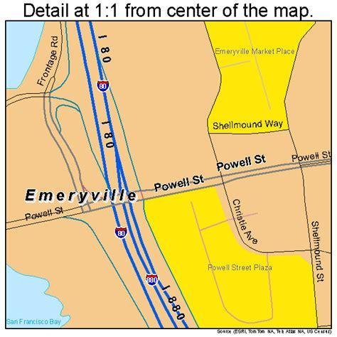 california map emeryville emeryville california map 0622594