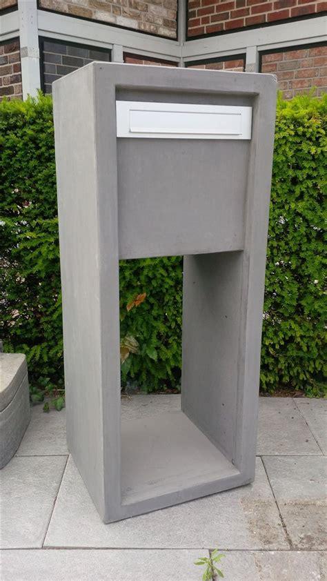 standbriefkasten modern betonbriefkasten modern anthrazit standbriefkasten 45x40cm