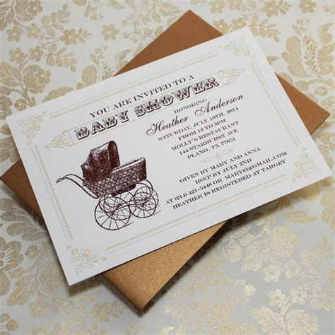 Vintage Invitations Baby Shower by Vintage Baby Shower Invitations Template Best Template