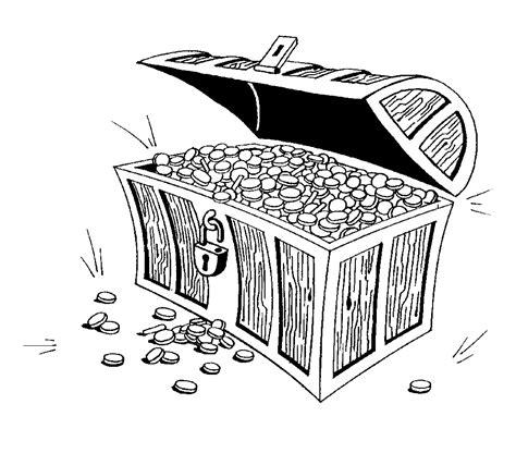 coloring page treasure chest treasure chest outline cliparts co