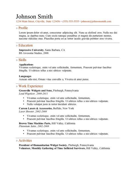 Sample Resume For Download – Free Resume Sample Templates   Sample Resume
