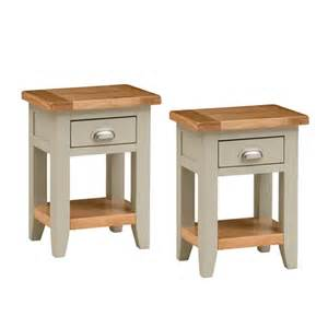 Small Bedside Tables Caldecote French Grey Set Of 2 Small Bedside Tables C330