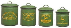 deere kitchen canisters deere enamelware canister set