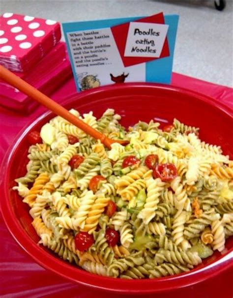 Baby Shower Pasta Salad by Dr Seuss Baby Shower Food Poodles Noodles Pasta