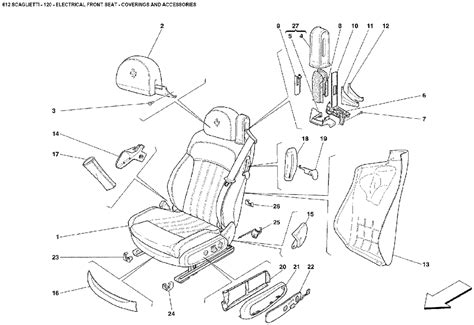 car seat diagram car front seat diagram seat auto parts catalog and diagram