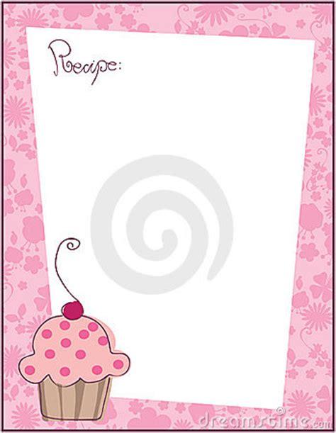 cupcake recipe cards templates recipe template stock photography image 9177382