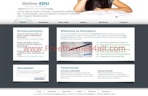 free css templates for educational websites education blue clean free css template