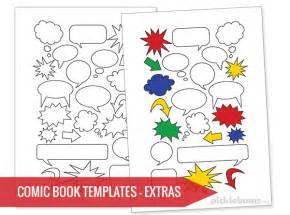 Comic Template Maker by Free Printable Comic Book Templates Picklebums