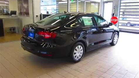 jetta volkswagen black 2016 volkswagen jetta black stock 110807 walk around