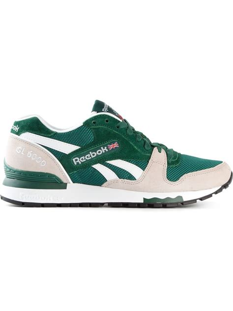 sneakers for reebok gl 6000 sneakers in green for lyst
