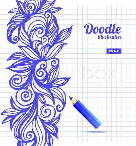 doodle box vector free doodle floral design stock vector colourbox