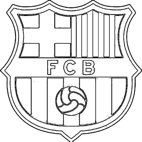 barcelona logo coloring pages coloring pages for kids