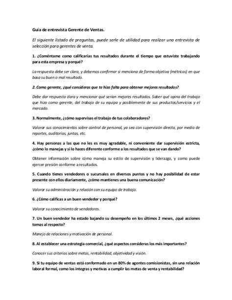 preguntas de entrevista para asistente administrativo modelo preguntas de seleccion gerente de ventas