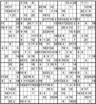 super sudoku 16x16 a giant search results for 16x16sudoku calendar 2015