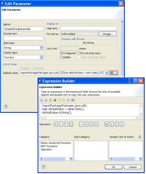 birt javascript format date new and notable features within birt 2 5 milestone 7 the