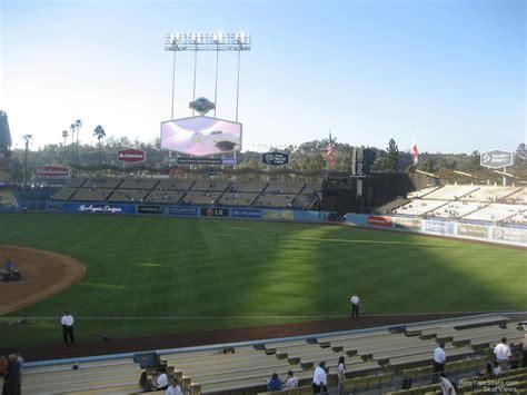 dodger stadium sections dodger stadium section 142 rateyourseats com