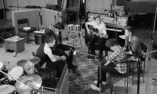 one direction are stripped back and jamming in the studio for things