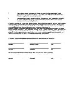 rent guarantor form template guarantor agreement free