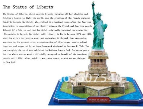 Puzzle 3d Statue Of Liberty Usa Ori 100 statue of liberty 3d puzzle 39 pieces toys puzzles